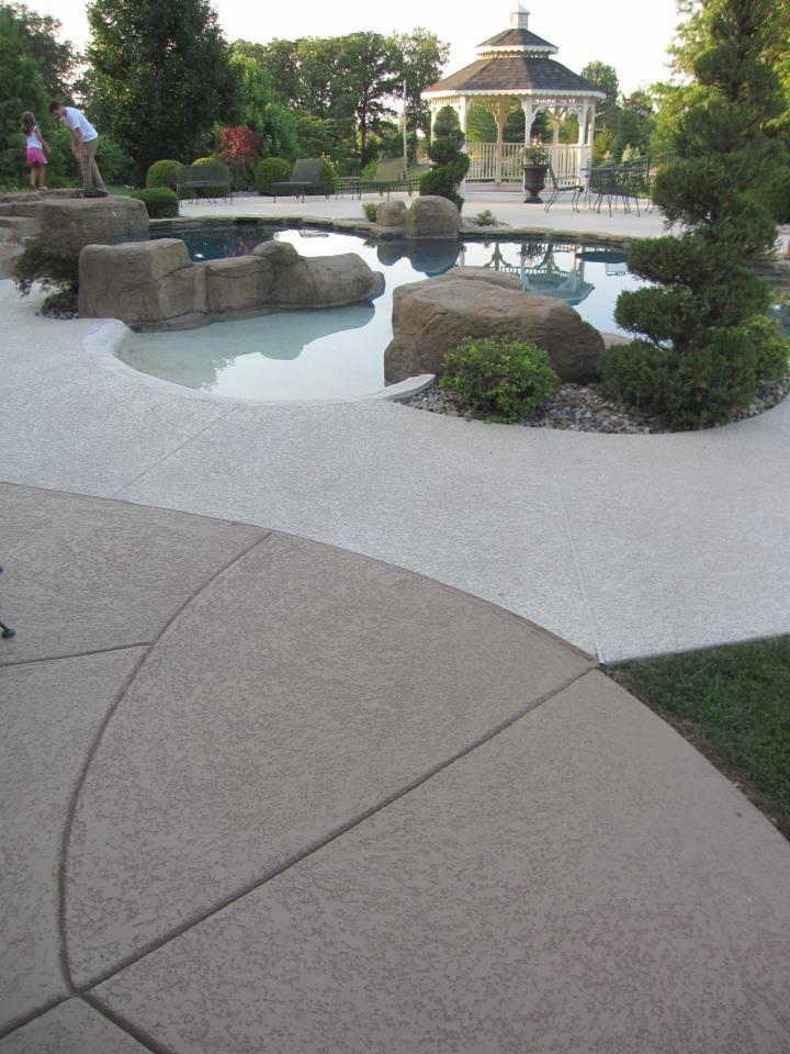 acrylic sealing to concrete