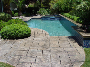 Pasadena, TX Stained Pool Deck