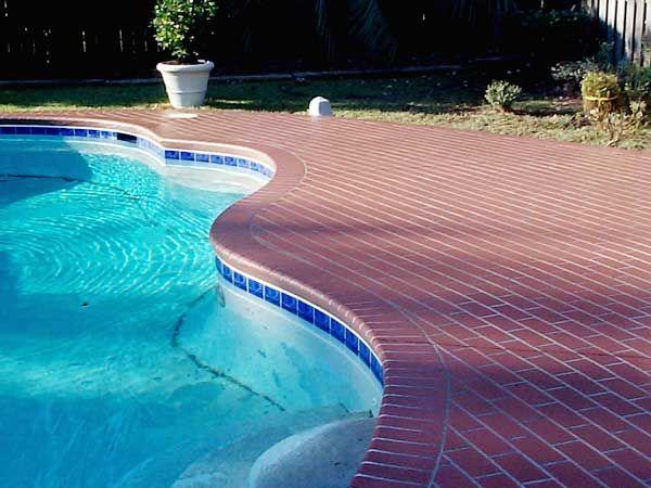 patio pavers on concrete pool deck